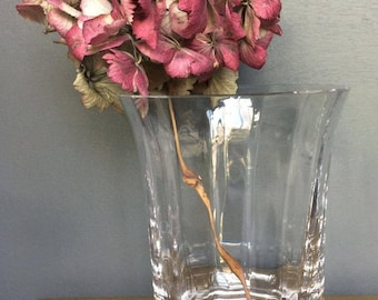 Pretty Fluted Leaded Glass Vase
