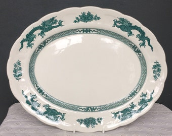 Vintage Booths Green Dragon China Platter c.1920s