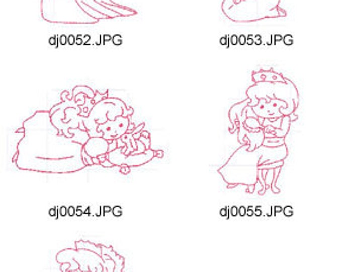 Little-Princess-Redwork-1 ( 5 Machine Embroidery Designs from ATW ) XYZ17E