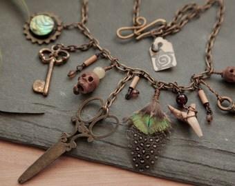 Steampunk / hippie / gothic / gypsy / boho necklace