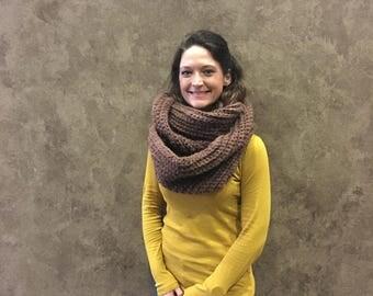 Chunky infinity scarf, oversized infinity scarf, crochet infinity scarf, winter scarf