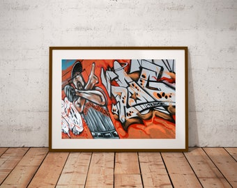 "San Francisco Street Art Photography, SF Giants, California, Baseball, Fine Art Photography, 20 cm x 30 cm, 8"" x 12"""
