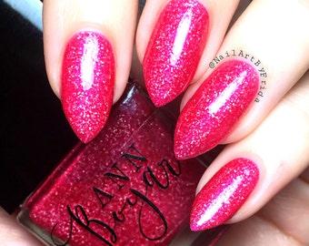 MOZART - Pink Jelly Nail Polish, Nail Lacquer, Glitter Nail Polish, Pink Gifts For Her, Vegan Nail Polish, Pink Organic Makeup, AnnBoyar