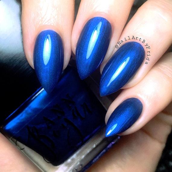 Nail Art Midnight Blue: MIDNIGHT BLUE Navy Nail Polish Deep Blue Nail Polish Nail