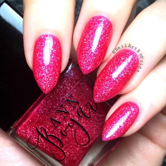 MOZART Pink Jelly Nail Polish Nail Lacquer Glitter Nail