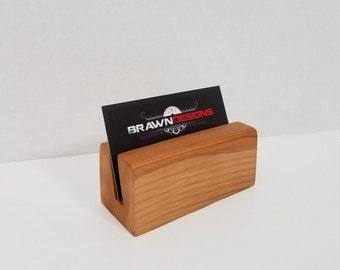 CLOSEOUT -    Cedar Business Card Holder