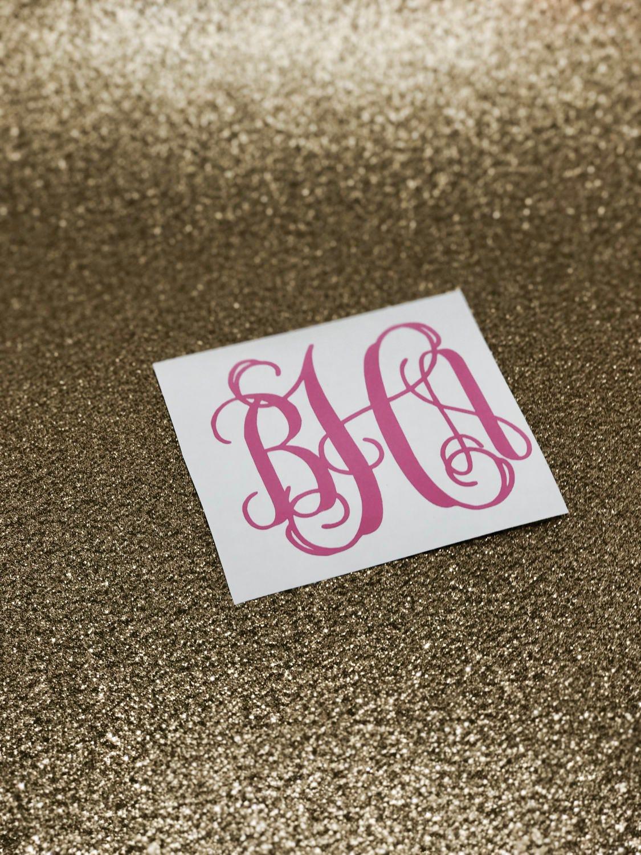 Monogram Vinyl Decal Monogram Vinyl Sticker Monogram Sticker - Stickers for yeti cups