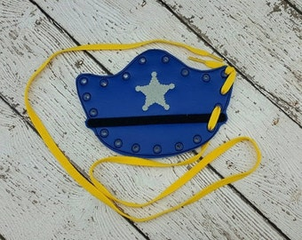 Police Hat Lacing Card