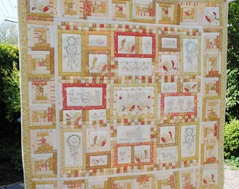 Tail Feathers Quilt - Handmade