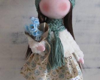 Personalized doll, fabric doll, handmade doll,  gift doll, doll for gift, fabric doll handmade, baby doll, textile doll, gift, tilda doll