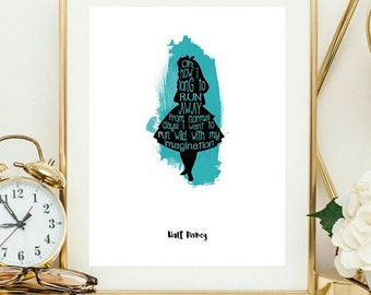 alice quotes, book quotes, wanderlust, cs lewis quote, cs lewis print, inspirational quote, wanderlust poster, gift for daughter, home decor