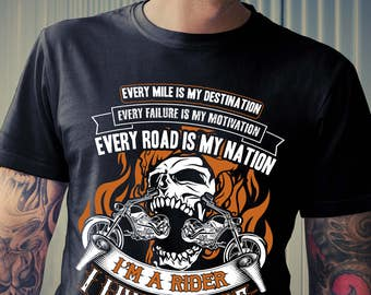 Biker T-shirt, I'm A Rider, I Live To Ride T-shirt, Gift Idea for Biker, Funny Motorcycle Shirt Collection, Biker Shirt, Sizes Up to 3XL