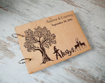Harry Potter Guest Book Harry Potter Gift Rustic Wedding Guest Book Custom Guest book Personalised Wedding Guest Book Alternative