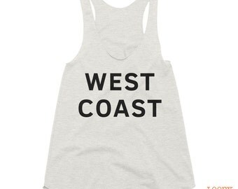 West Coast Graphic Tank Top // Women's Tank Top // Racerback Tank Top // American Apparel Tank // PNW Shirt // West Coast Shirt