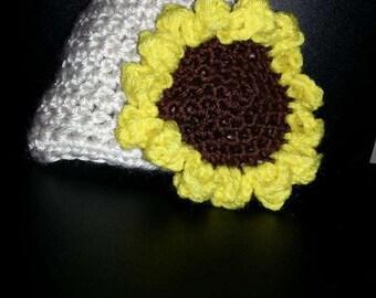 Newborn Crochet Sunflower hat