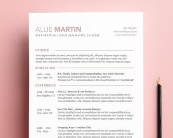 Best Creative Resume Template for Word | Modern CV Resume Design | Personal Branding Stationery | Simple Resume Template | Instant Download