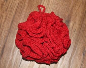 Crochet Bath Pouf, ecofriendly, bath pouf, handmade crochet cotton