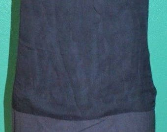 Vintage Antique 1918 1910 20s Bergdorf Goodman Black Silk Chiffon flapper Dress