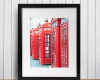 Red Phone Booth, London Print, London England, Large Travel Photography, Travel Photography, Office Photo Art, England Photograph