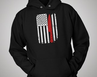 Cooking Chef Cook USA American Flag Hoodie