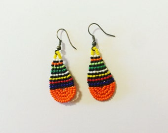 Colorful African Beaded Earrings