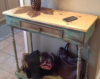 Robin's egg Vintage Hallway table