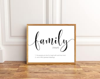 Merveilleux Family Printable, Family Wall Art, Family Decor, Family Quote Signs, Family  Quote