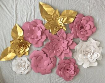 3D Paper Floral Photography Backdrop