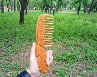 Wooden hair comb Gift for women wedding gift for her Hair accessories Gift for mom Wife gift Grandma gift Sister gift Girlfriend gift