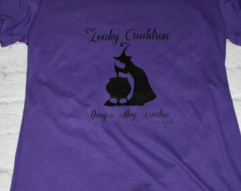leaky cauldron, diagon alley shirt, purple shirt, Harry potter, Wizarding world of harry potter