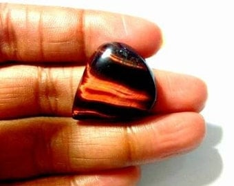 Red tiger eye best quality , flat back cabochon , natural stone 3 usd (approx) GM213
