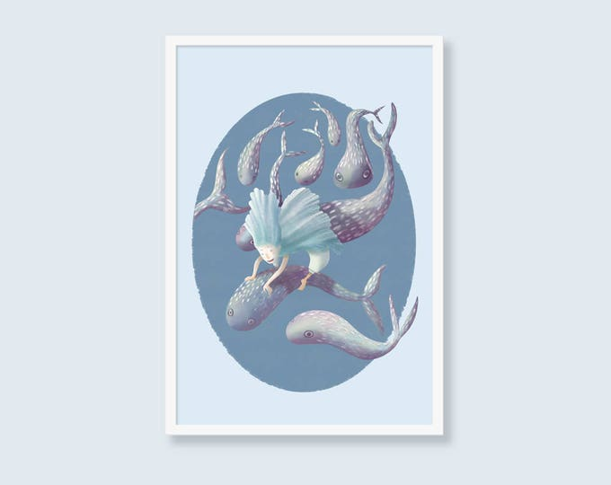Underwater - printable digital illustration