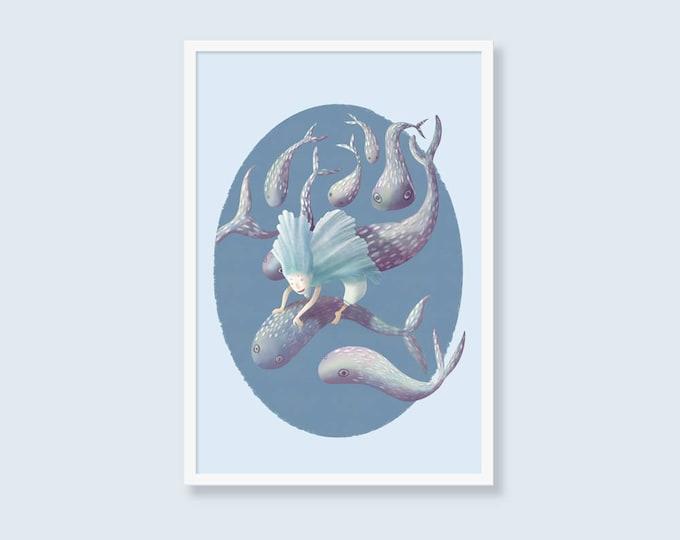 Underwater - printable digital illustration