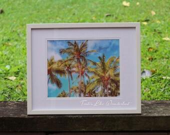 Framed Print 8x10 || Palm Trees of Oahu, Hawaii
