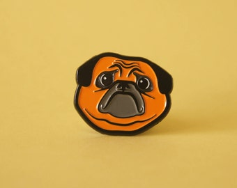Sad Pug Soft Enamel Pin