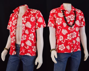Mens Shirt Button Down Aloha Hawaiian Shirt - Mens Shirt Summer Top
