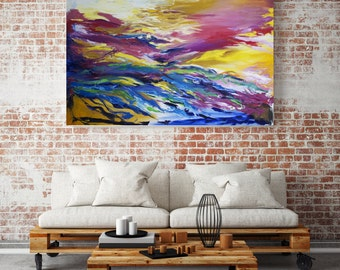 Large Abstract Canvas Print , Abstract Landscape, Giclee Print, Modern Art, Contemporary Art, Home Décor, Print from Original Oil Painting
