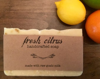Fresh Citrus Goat Milk Soap