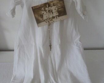Rarity! antique christening gown vintage style Feston top cotton baptism christening baptism lace 19.Jahrhundert Victorian style