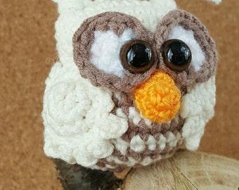 Crochet Owl Keyring Amigurumi Owl Keychain Miniature Crochet Owl Bag Charm Owl