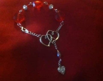Red Love heart bracelet