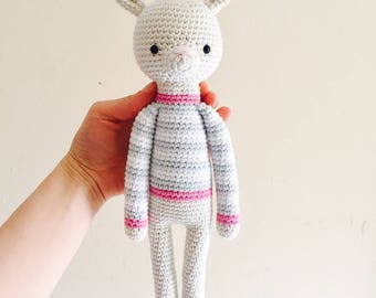 Crochet Bunny Amigurumi Hand Made Soft Toy Nursery Decoration Plushie