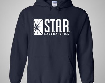 SALE - Star Labs Hoodie Navy Blue - STAR Laboratories Pullover Hoodie - The Flash - Christmas Gift Idea
