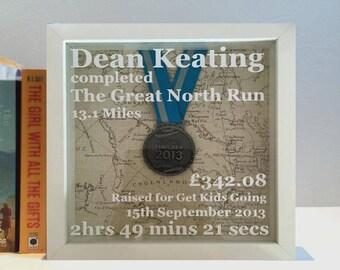 Personalised Medal Display Box Frame | Showcase running, biking, dance medals | Shadow Box Frame