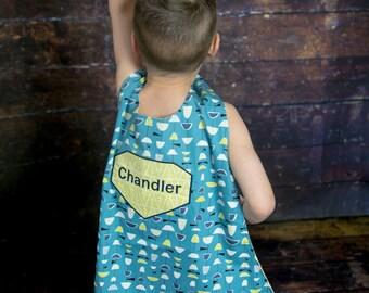 Kids Superhero Cape - Personalized Cape - Kids Superhero Costume - Organic Cape - Organic Fabric - Superhero Birthday Gift - Kids Dress Up
