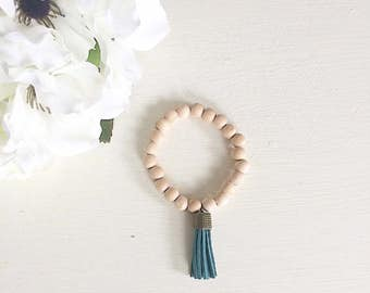 Tassel Bracelet, Tassels, Wood Bead Bracelet, Wooden bead Bracelet, wood bracelet, bracelet, rustic jewelry, wood beads, wooden beads, boho