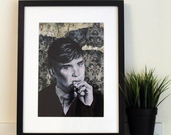 Peaky Blinders A4 Vintage Illustrative print - Tommy Shelby / Cillian Murphy