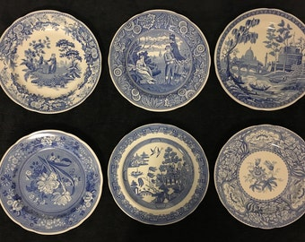 Spode Blue Room Collection Willow Tiny Plates