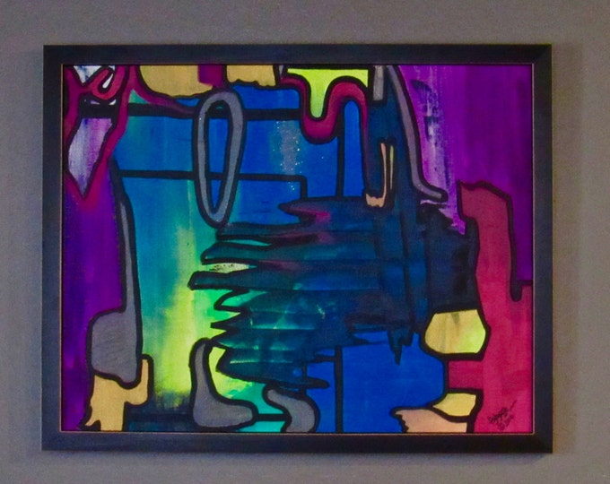 "Framed Abstract Painting ""Belonging"""