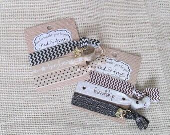 Friendship Best Friends Hair tie bracelets * Believe Hair Band Bracelets * Hair Accessories * Party Favor * Gift for her Sorority Sister